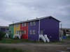 Colorful housing in Inuvik
