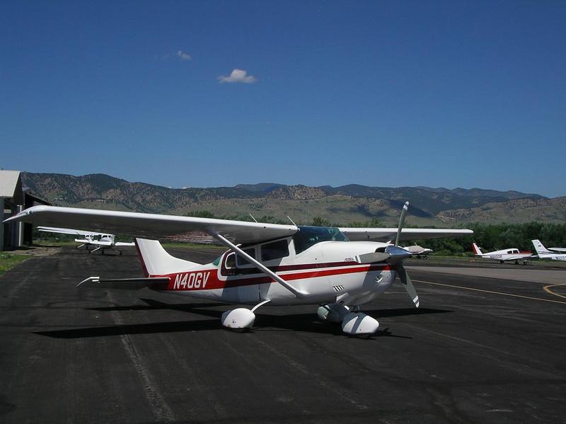 Paul's plane in Boulder
