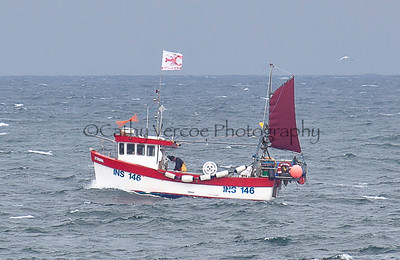 A fishing boat off the coast of Scotland