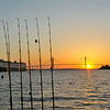 Sunset for Night time shark fishing on the Ospo from Jekyll Island, Georgia 05-16-14