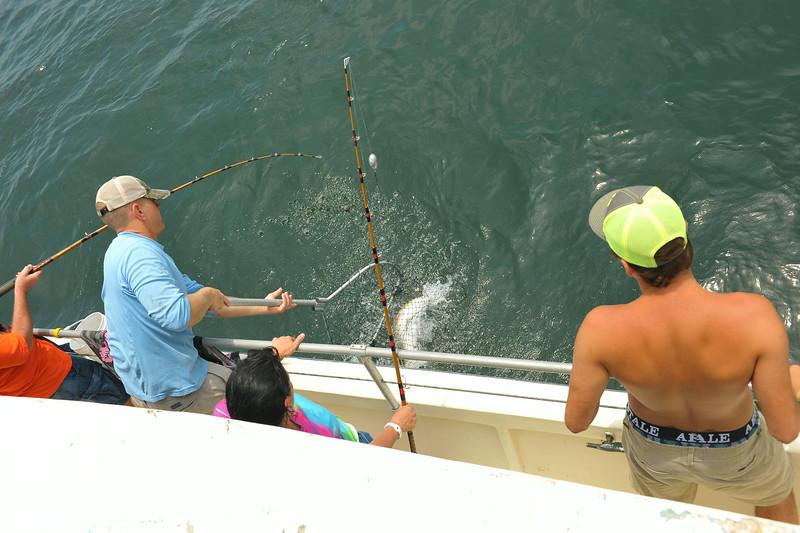 Offshore fishing on the Ospo from Jekyll Island, Georgia 05-26-14