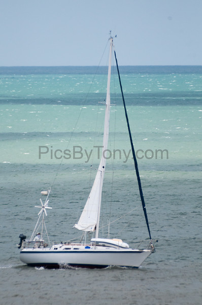 Sailboat Blue Moon from Jacksonville, FL off the coast of Flagler Beach, FL on 4/24/2017