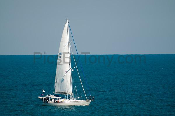 Sailboat Taipan off the coast of Flagler Beach, FL on 2/11/2016