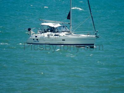 Sailboat Wind Wolf off the coast of Flagler Beach, FL on 5/17/2017