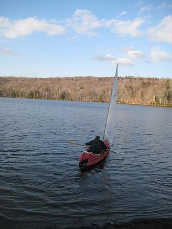 Folbot sailing