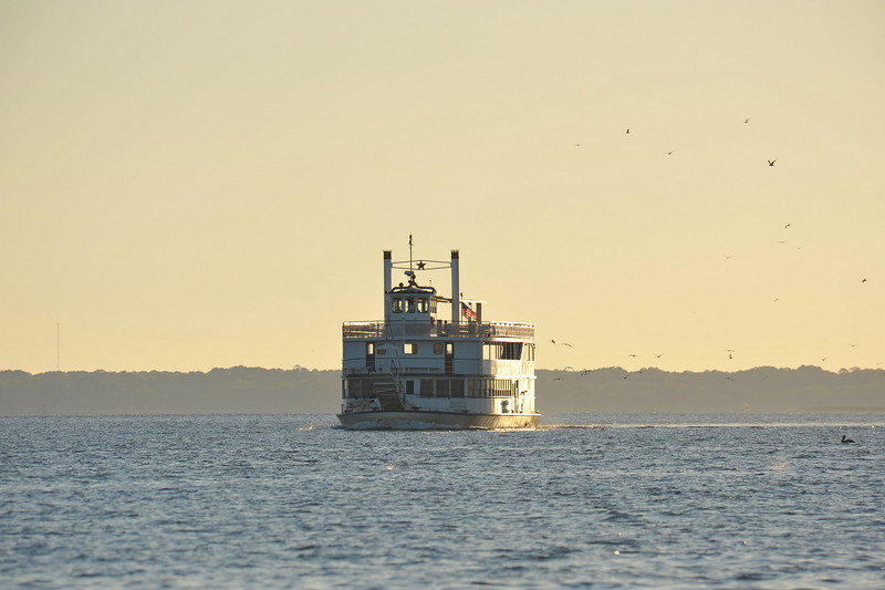"""Capt. Clark's FLAGSHIP"" in Sapelo Sound in Georgia headed for Charleston, SC from Corpus Christi, TX 04-06-11"
