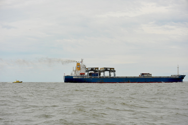 Pilot Vessel tracking ship out of St. Simons Shipping Channel 04-21-12