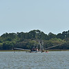 Miss Frankie Sunken Shrimp Boat in Fish Haven 04-08-19