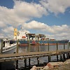 Shrimp boats and ship in East River at Brunswick, Georgia 05-25-12