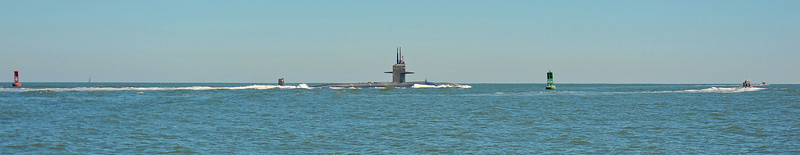 Submarine St. Mary's Shipping Channel 11-09-10