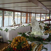Buffet for a corporate outing aboard the Grand Belle.