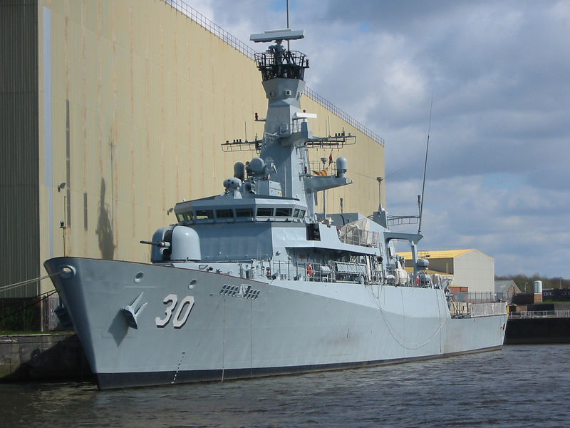 Newbuild for the Brunei Navy, OPV 30 at Scotstoun.