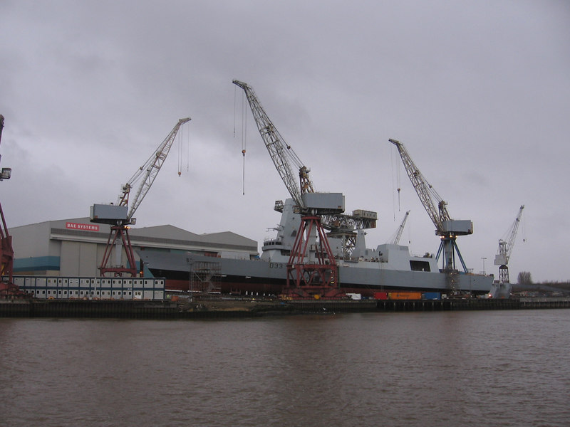 HMS DAUNTLESS (D33) at Govan, 14th January