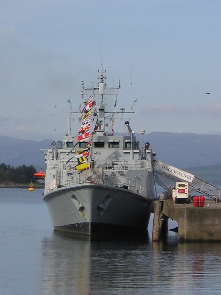 HMS WALNEY (M104) at Oban.