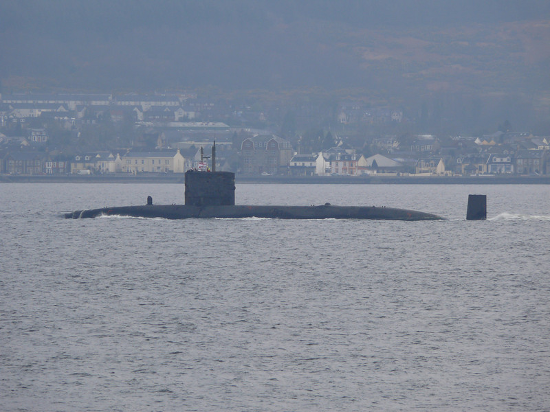Trafalgar Class (?) Submarine off Cloch Lighthouse<br /> 12th April 2008