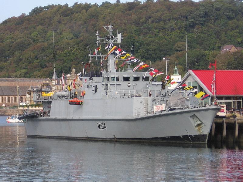 HMS WALNEY (M104) at Oban.