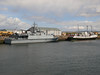 HMS BLYTH and BALMORAL in Greenock's James Watt Dock.<br /> 12th May 2012