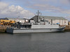 HMS BLYTH in Greenock's James Watt Dock.<br /> 12th May 2012