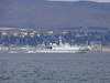 HMS WALNEY (M104) off Greenock Esplanade.<br /> 10th April 2008