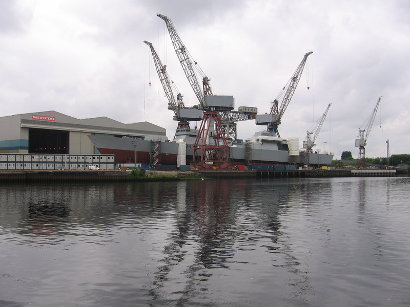 HMS DIAMOND (D34) being built at BAE Systems at Govan.<br /> 13th July 2007.