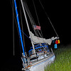 Grounded Vessel in Troupe Creek just off the ICW after dragging anchor at night - Ungrounding by TowboatUS Brunswick