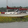 Aground in Floyds Creek, Alternate Intracoastal, Georgia - Ungrounding by TowboatUS Brunswick
