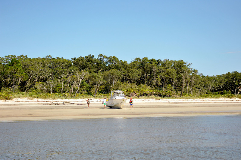 Aground - Ungrounding operation along the Intracoastal Waterway (ICW) in Georgia on the backside of Little Cumberland Island, Georgia near Brunswick . Ungrounding by TowBoatUS Brunswick. 07-12-09