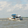 Aground in St. Andrews Sound south of Jekyll Island, Georgia near the Intracoastal Waterway (ICW) 04-20-12