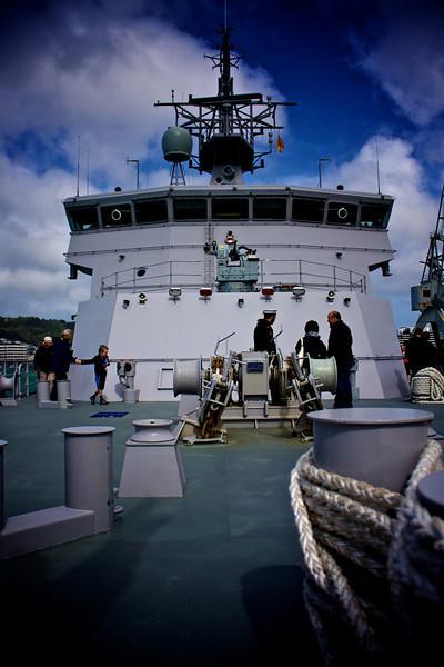 HMNZS Wellington Foredeck 26 Sep 2010