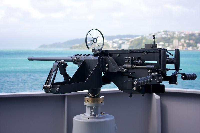 HMNZS Wellington Sep 2010 50 cal Machine Guns