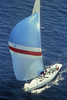 COURAGEOUS, flying an INDEPENDENCE spinnaker - 1977 America's Cup, from the Goodyear blimp.