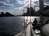 The East River, from the deck of ITHAKA, October, 2003