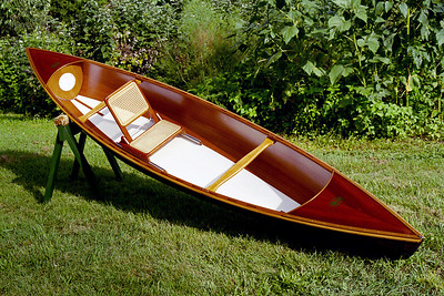 WeeRob13.5  This solo cedar stripper is 13.5 ft long and weighs about 45 lbs. Designed by Ian Oughtred and customized during construction.