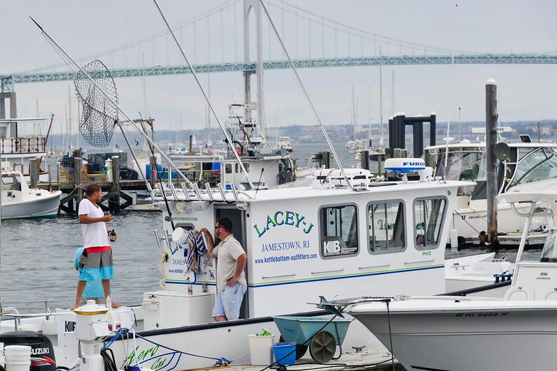 Charter fishing boat the F/V Lacey-J, Conanicut Marine, Jamestown, Rhode Island