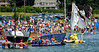 Chaos on the start line of the Fools Rules Regatta 2014, Jamestown, R.I....find Andrea