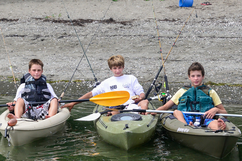 Kayak fisher boys Jamestown, Rhode Island