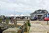 East Ferry Wharf, Newport Jamestown Ferry,  passengers waiting to go to the Folk Festival at Conanicut Marine