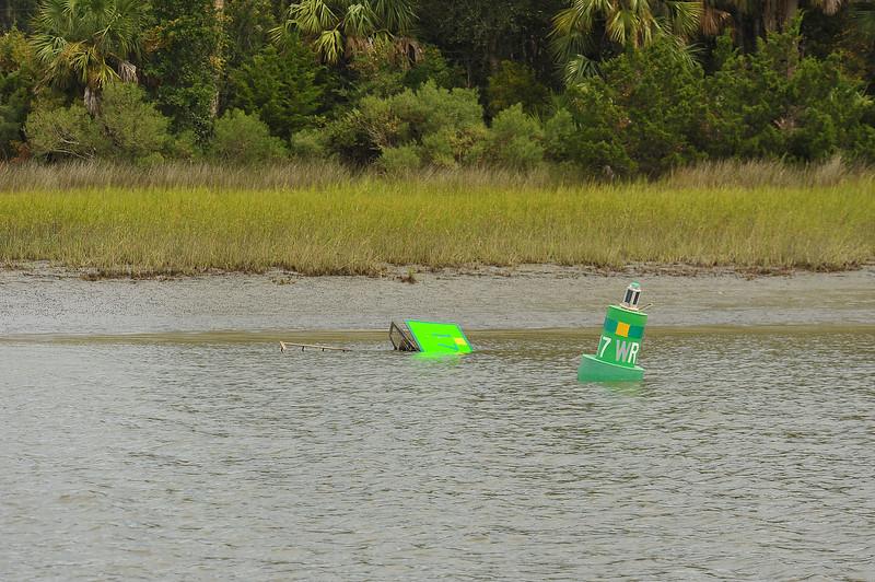 Jekyll Creek ICW Marker Green 17 down 09-13-19
