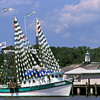 "Shrimp boat ""Luana Luisa""  docked at Jekyll Wharf Marina at Jekyll Island, Georgia dressed for the Brunswick, Ga ""Blessing of the Fleet"""