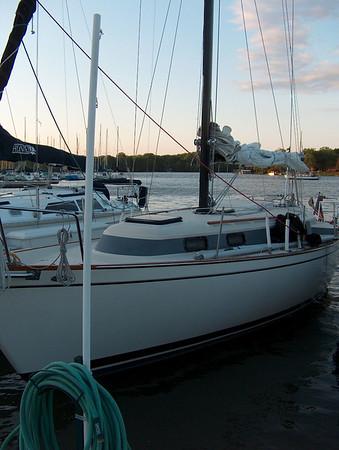 Joe Ballard's boat christening