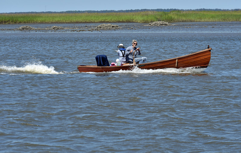 John Carswell in his home made skiff in Jekyll Creek 05-14-19