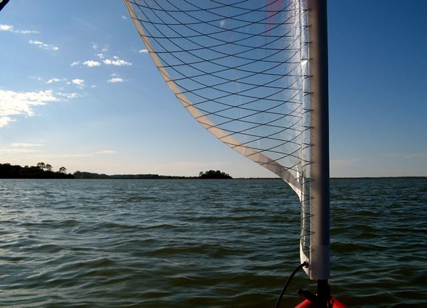 My first time to sail my Hobie.  Hunting Island New Year 08