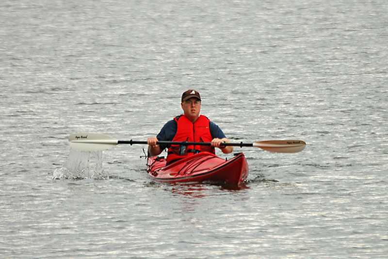 Photo of myself while paddling on Thunder Lake on May 27th, 2007.<br /> <br /> Uhm, no 'I' didn't take the photo!