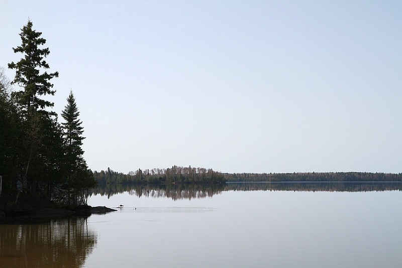"""<TD vAlign=top noWrap align=right bgColor=lightblue><FONT face=""""Verdana, Arial, Helvetica"""" color=#4F94CD size=3>Thunder Lake, April 19th 2010</FONT></TD>  Our neck of the woods had a very early spring this year and the last couple days have been calm, and hot out so today I loaded up the kayak and headed over to Thunder Lake.  When I got there, the waters surface was like glass. It didn't take me long to get everything unloaded and ready to go except when I went back to the Jeep to get my life jacket, I realized I forgot it at home. Well, I wasn't about to re-load everything and go get it so I went without it. As long as I didn't fall in I should be ok. <br><br><br> I took a cheap (luckily) thermometer with me as I was curious as to what the temperature of the lake was. Every once in a while I would stop and take the temperature - the average temp was 8C. I said luckily I took a cheap one as at some point I lost it in the middle of the lake. I did, however, find a fairly new looking tennis ball in the middle of the lake so I guess I came out even.  Although it was about 19C out, there was still some ice on the shore in a few spots. While paddling around the lake I went over to a small cabin that I've photographed in the past and saw some ice on the shore. I took a few shots from a couple hundred feet out then drifted towards shore.  I could hear something that was making me curious. It sounded like it was something in the trees moving around but then I heard the sound again to my left - I finally clicked in that it was the ice melting. The ice would melt a bit, then shift. Kind of like when a glacier calves a ice burg. The ice would shift and fall towards the water."""