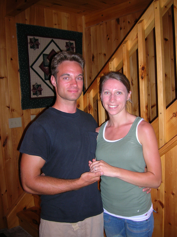 Matt and Ashley announce their engagement.  (Picture by Leon)
