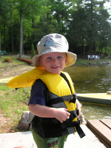 Austin enjoys a kayak ride, which typically puts him right to sleep.  (Picture by Leon)