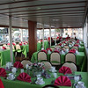 Sit down dinner seating on the lower deck of the Lady of the Lake.