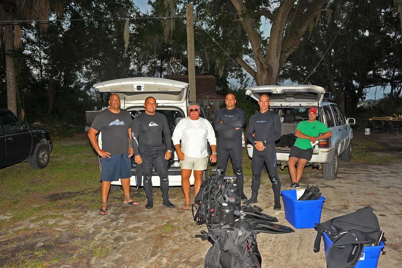 Lighthouse Dive Services - Training Aruba Marine Police Divers in Brunswick, Georgia USA on 09-11-14