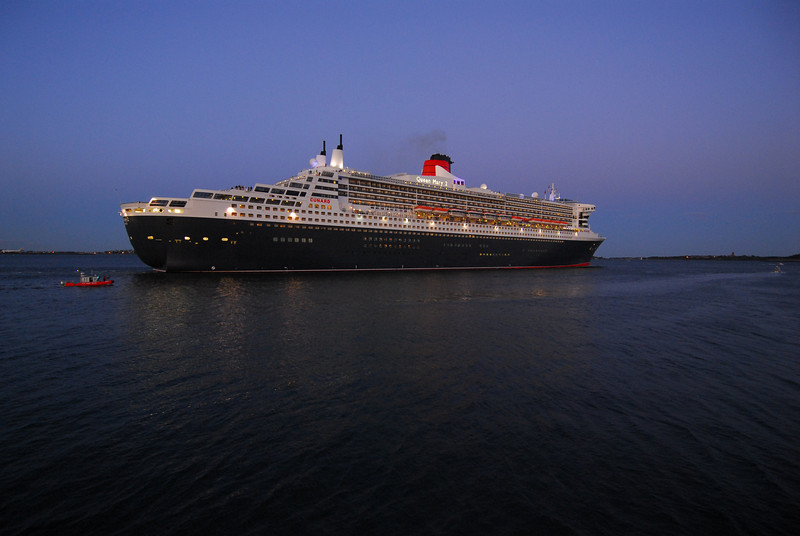 Cunard's Queen Mary 2 sailing from Boston.