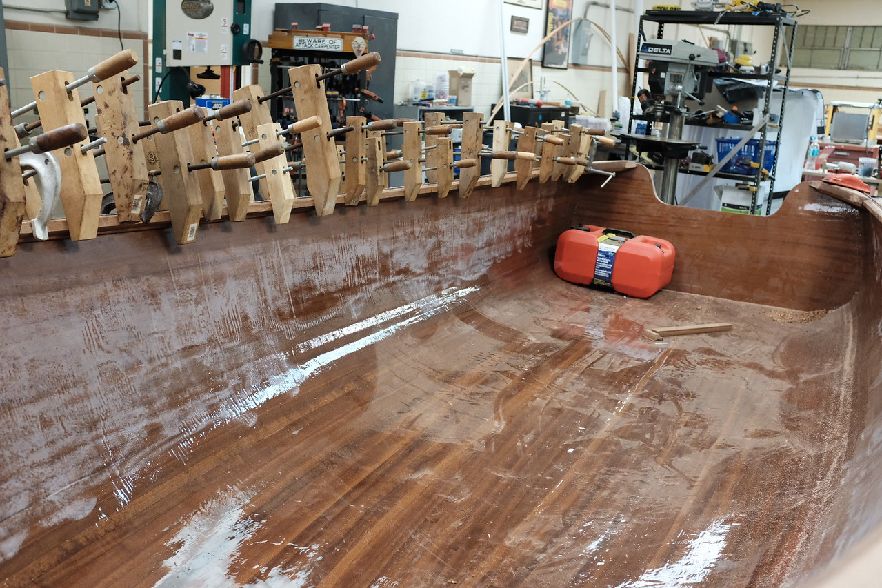Starboard Gunnel Glued